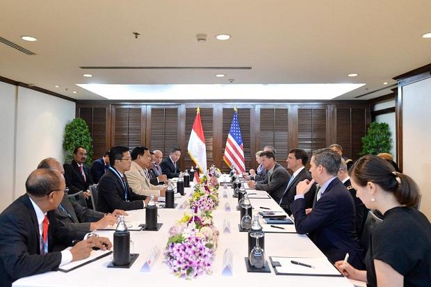 Menhan Prabowo dan Menhan Amerika Mark Thomas Esper Bertemu di Bangkok