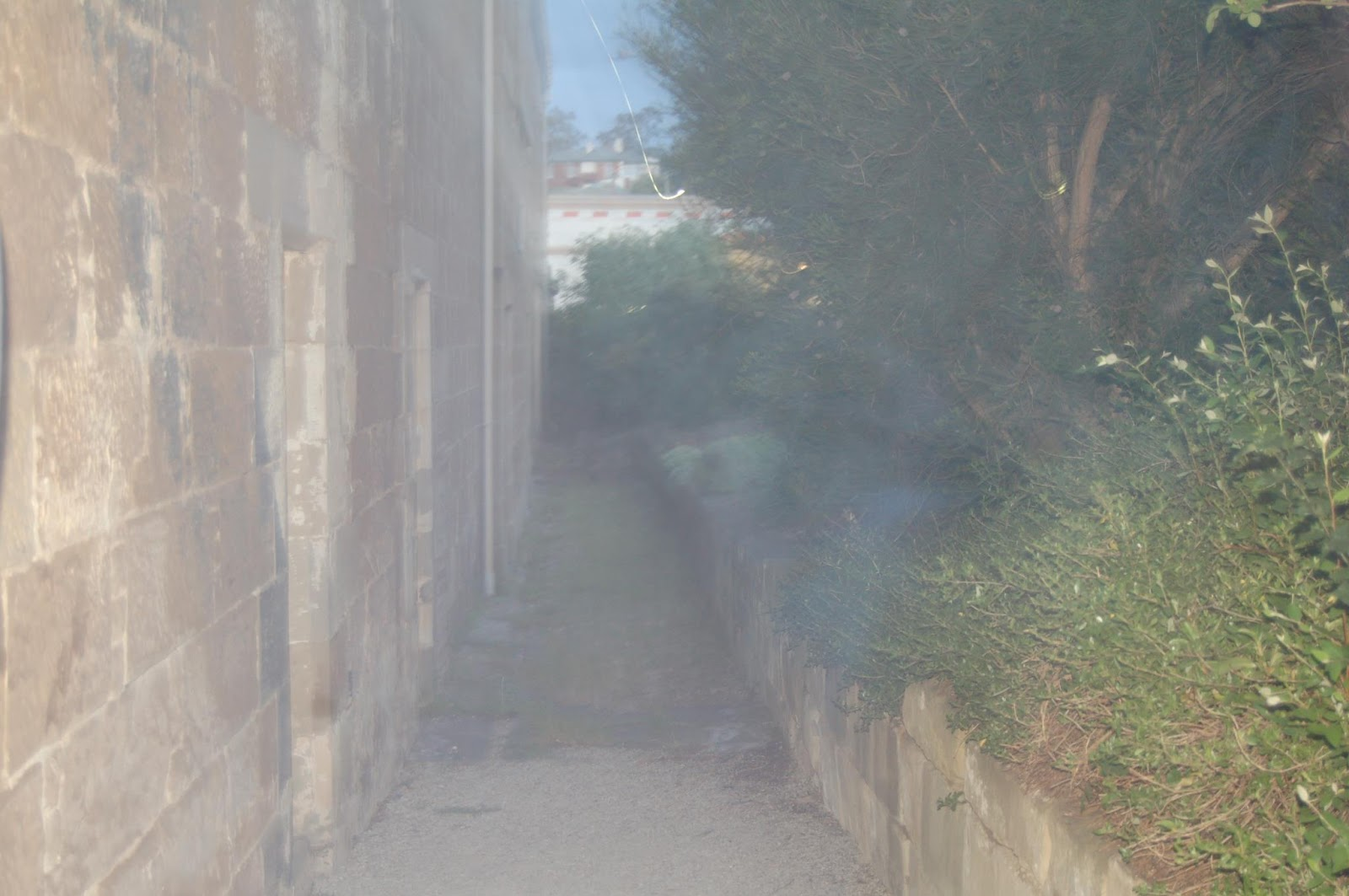 Photo of alleged ghost at 'South Brisbane Cemetery'.