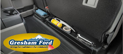 Interior Storage in the 2017 F150 for sale at Gresham Ford