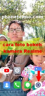 Cara foto bokeh kamera Realme C1