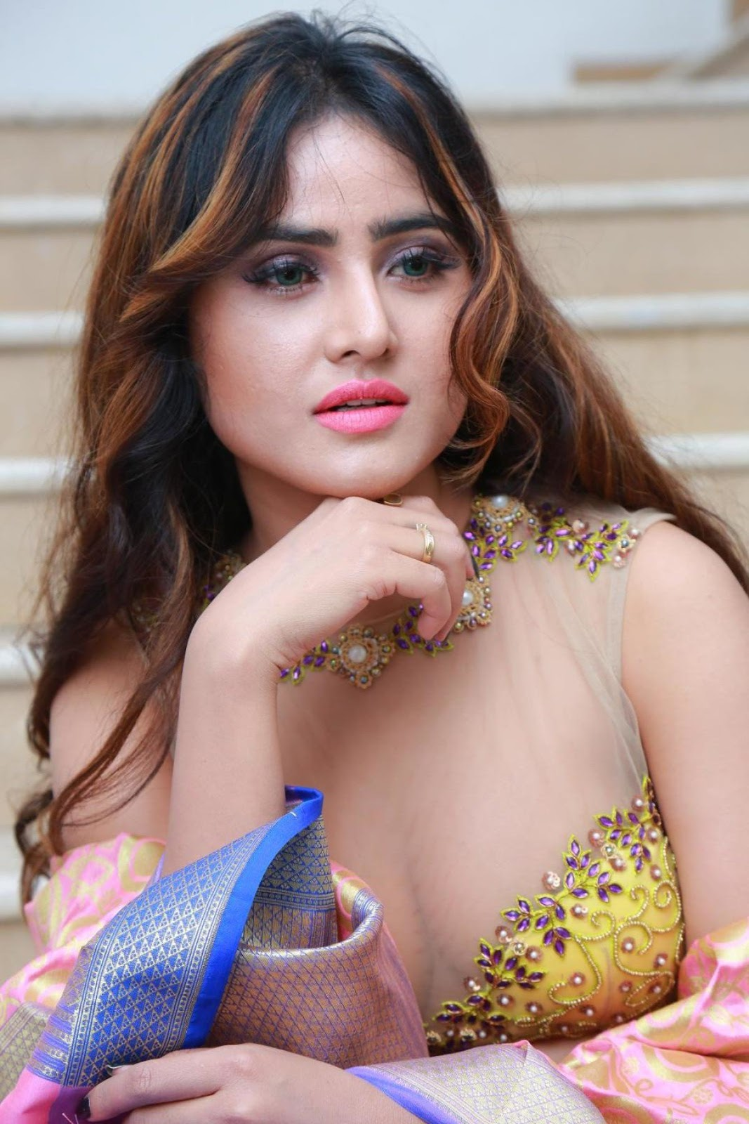 Sony Charishta Latest Cleavage Photoshoot South Indian