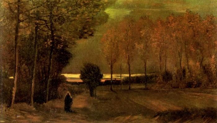 Autumn Landscape at the Dusk