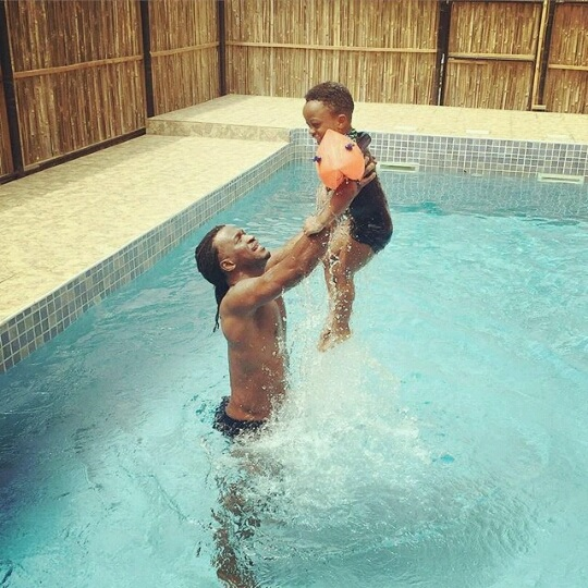 [Photos] Paul Okoye Takes A Break From Social Media Drama To Bond With His Son