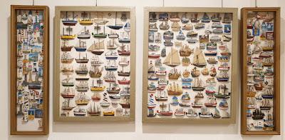 Exposición filatélica y otros coleccionismos en Avilés: Imanes de barcos y faros