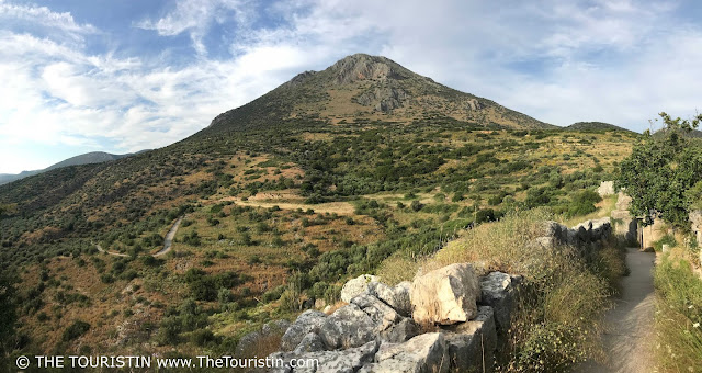 Panorama view from UNESCO site Mycenae in Greece