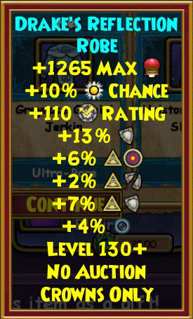 Wizard101 Level 130+ Gear - Professor's Hoard Pack