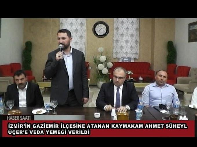 İzmir Gaziemir Kaymakamlığına atanan İlçemiz Kaymakamı Ahmet Süheyl ÜÇER
