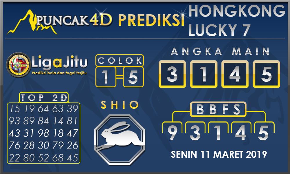 PREDIKSI TOGEL HONGKONG LUCKY 7 PUNCAK4D 11 MARET 2019