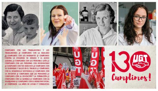 130 Aniversario de UGT, Cumplimos UGT, UGT, Enseñanza UGT Ceuta