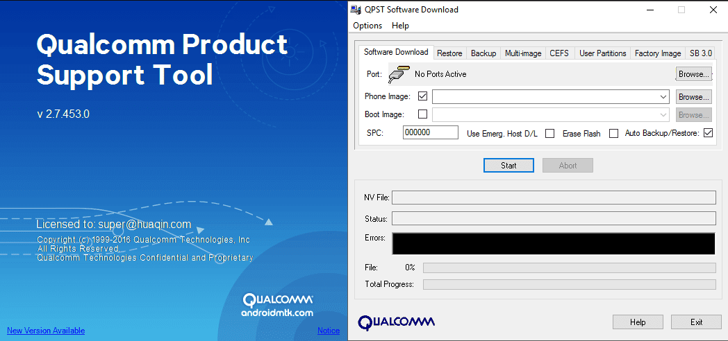 Download QPST (Qualcomm Product Support Tool)