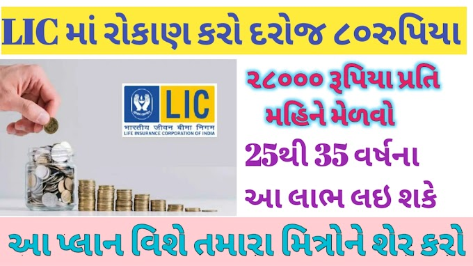 LIC: Get Rs 28,000 per month by depositing Rs 80 per day,
