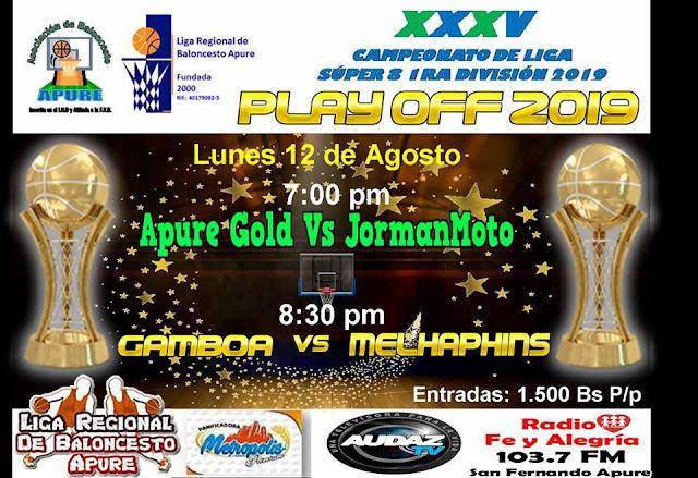 APURE: Liga Regional de baloncesto en Semifinales.