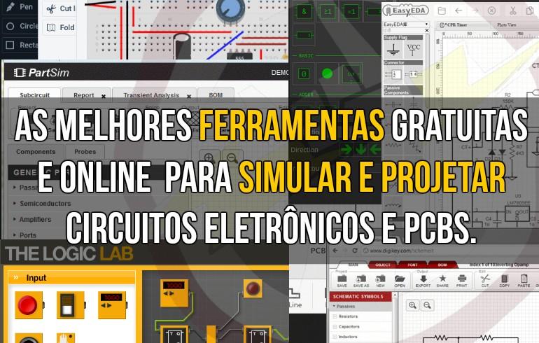 As melhores ferramentas gratuitas e online para simular e projetar circuitos eletrônicos e PCBs.