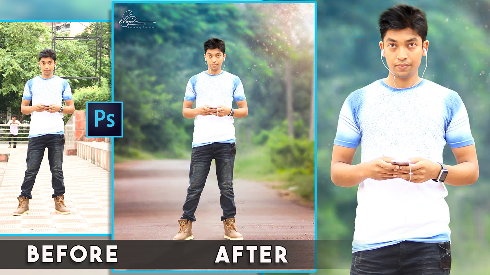 How to Edit Natural Blur Background and soft light effect in