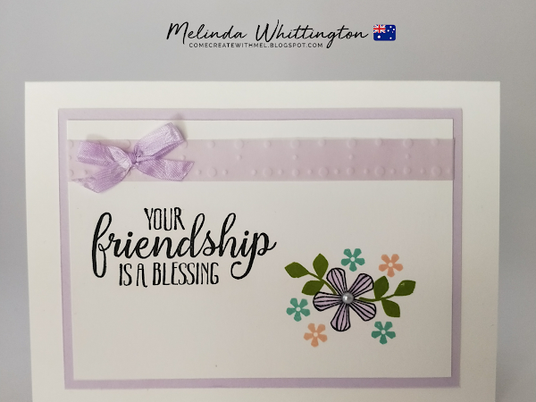 Stampin' Up! So Very Vellum Friendship Card