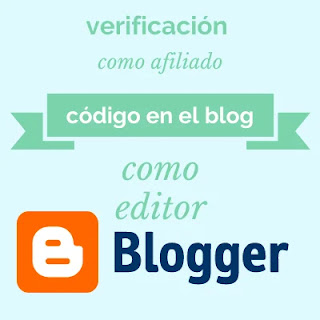 La verificación de tu blog de Blogger como afiliado o editor es un proceso donde los códigos se introducen en el html