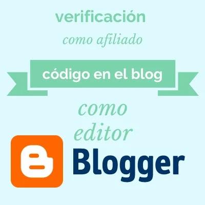Verificación en Blogger de editor y afiliado