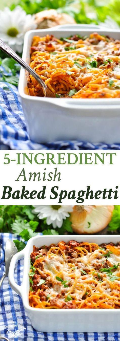 5-Ingredient Amish Baked Spaghetti