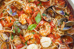 One Pot Seafood Pasta