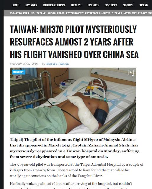 MH370飛行員