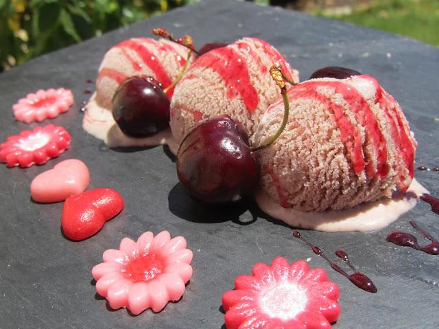 Helado de pikotas (Cerezas)  Thermomix
