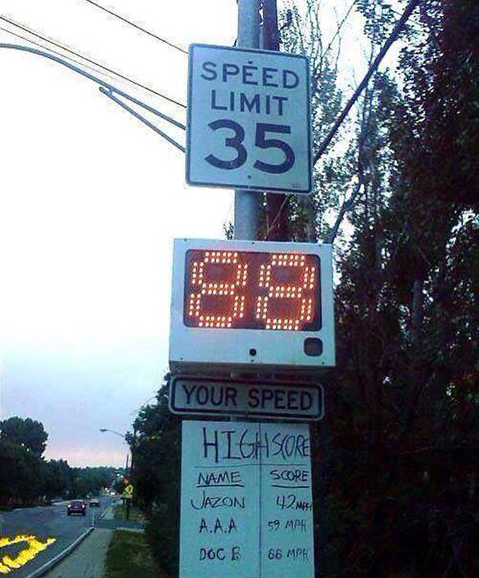 Funny Speed Limit High Score Sign Picture