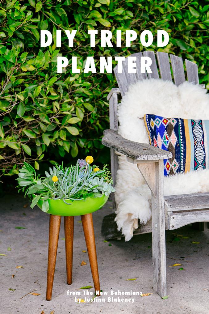 DIY tripod planter