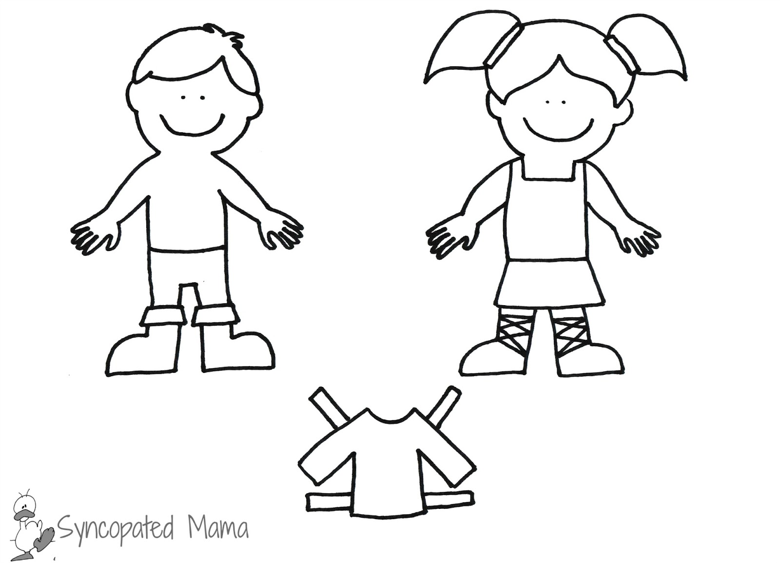 Girl Paper Doll Template  Elioleracom