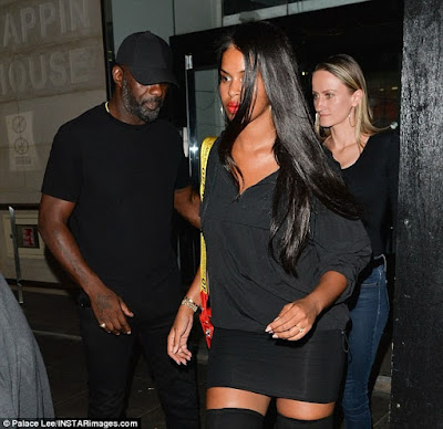 Idris Elba Enjoys Night Out With His  Fiancée Sabrina Dhowre.