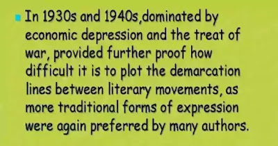 Poetry during 1930 to 1940