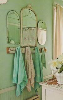 Baño verde mint
