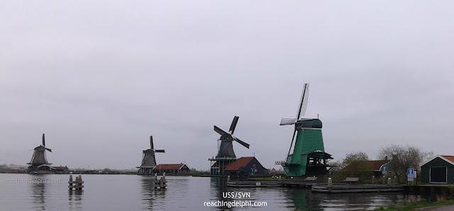 windmills Zaanse Schans Netherlands