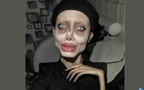 Instagrammer Sahar Tabar menjadi sensasi viral setelah memposting foto selfie yang ekstrim.. Photo dari CNN.COM/td>