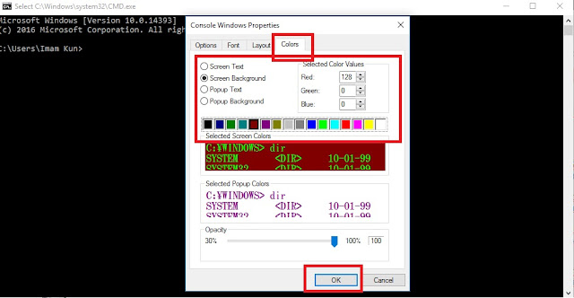 Cara Mengubah Warna Background dan Font CMD (Command Prompt)