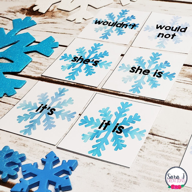 Free contractions matching game cards! So many activities you can do with this freebie. Make it a game and play memory or go fish. This is awesome grammar practice for kids in first grade or 2nd grade.