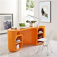 Orange Office Desk