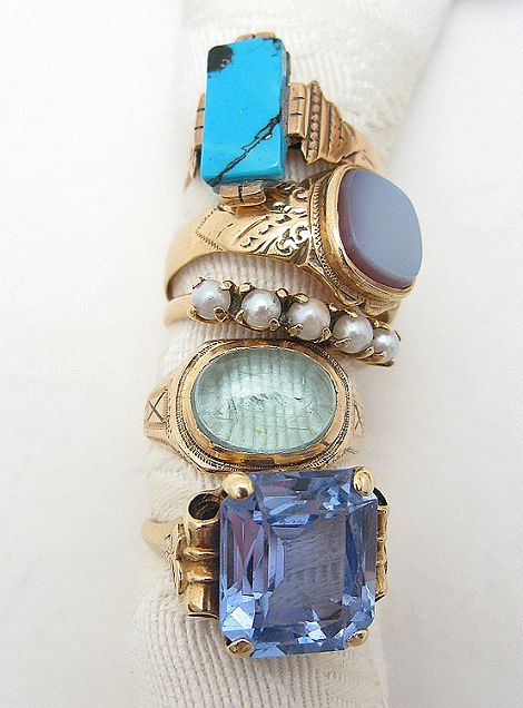 amazing gold and blue rings, accessories