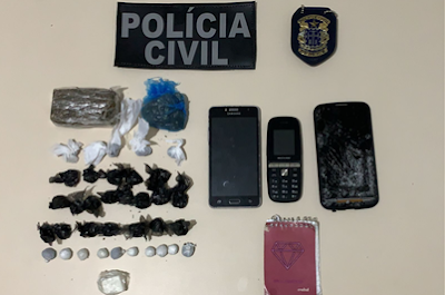 Polícia Civil de Seabra faz apreensão de drogas e captura flagranteados
