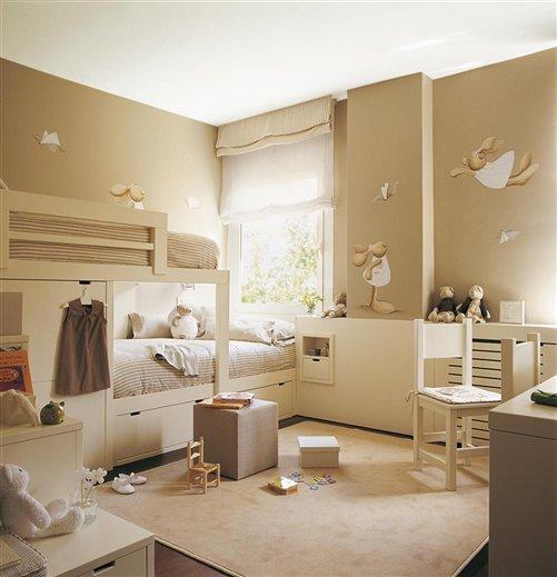 Casa tr s chic quartos para irm os for Habitaciones infantiles dobles ikea