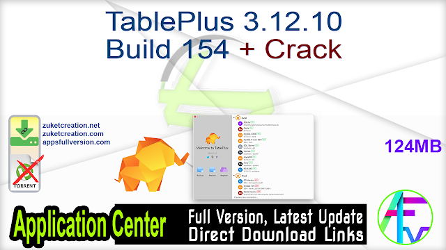 TablePlus 3.12.10 Build 154 + Crack