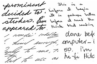 Emotional Expression & Depth of Emotion as shown in handwriting