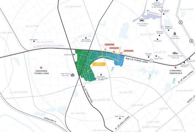 Vị trí dự án Imperia Smart City Tây Mỗ