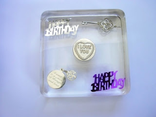 Personalised Happy Birthday paperweight