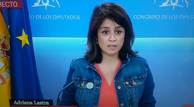 """Adriana Lastra """"Se abre una oportunidad en nuestro país que todos estábamos esperando"""""""