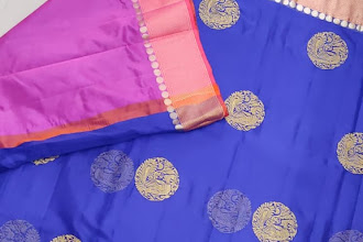 Silk Kota Saree With Designer blouse