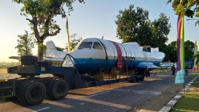 Pesawat N250 Karya Habibie Tiba di DIY, Diistirahatkan di Museum TNI AU