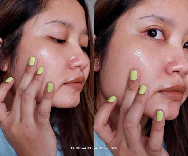 tekstur cair dan aroma Indoganic Brightening Vitamin C Serum