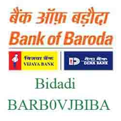 Vijaya Baroda Bank Bidadi Branch New IFSC, MICR