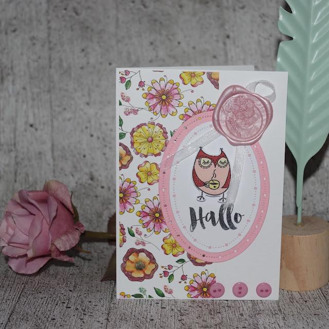 [DIY] Blumige Eulengrüße  Grußkarte für Eulenliebhaberinnen und zum Hallo-Sagen