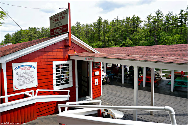 Muelle de Chauncey Creek Lobster Pier en Kittery Point, Maine